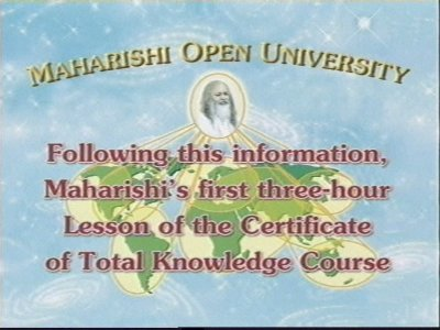MOU - Maharishi Open University